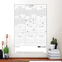 Deals on Wall Pops White Yearly Calendar Decal