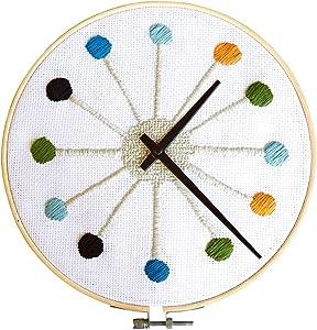 Kikkerland Cross Stitch Clock (CL65)