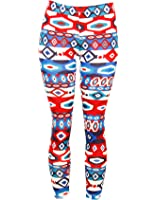 Cotton Blend Hexagon Geometric Pattern Leggings Made in USA