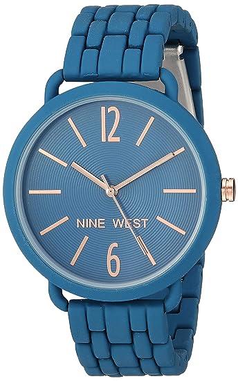 5c9d779bac1 Nine West - Reloj de Pulsera de Goma para Mujer: Amazon.es: Relojes