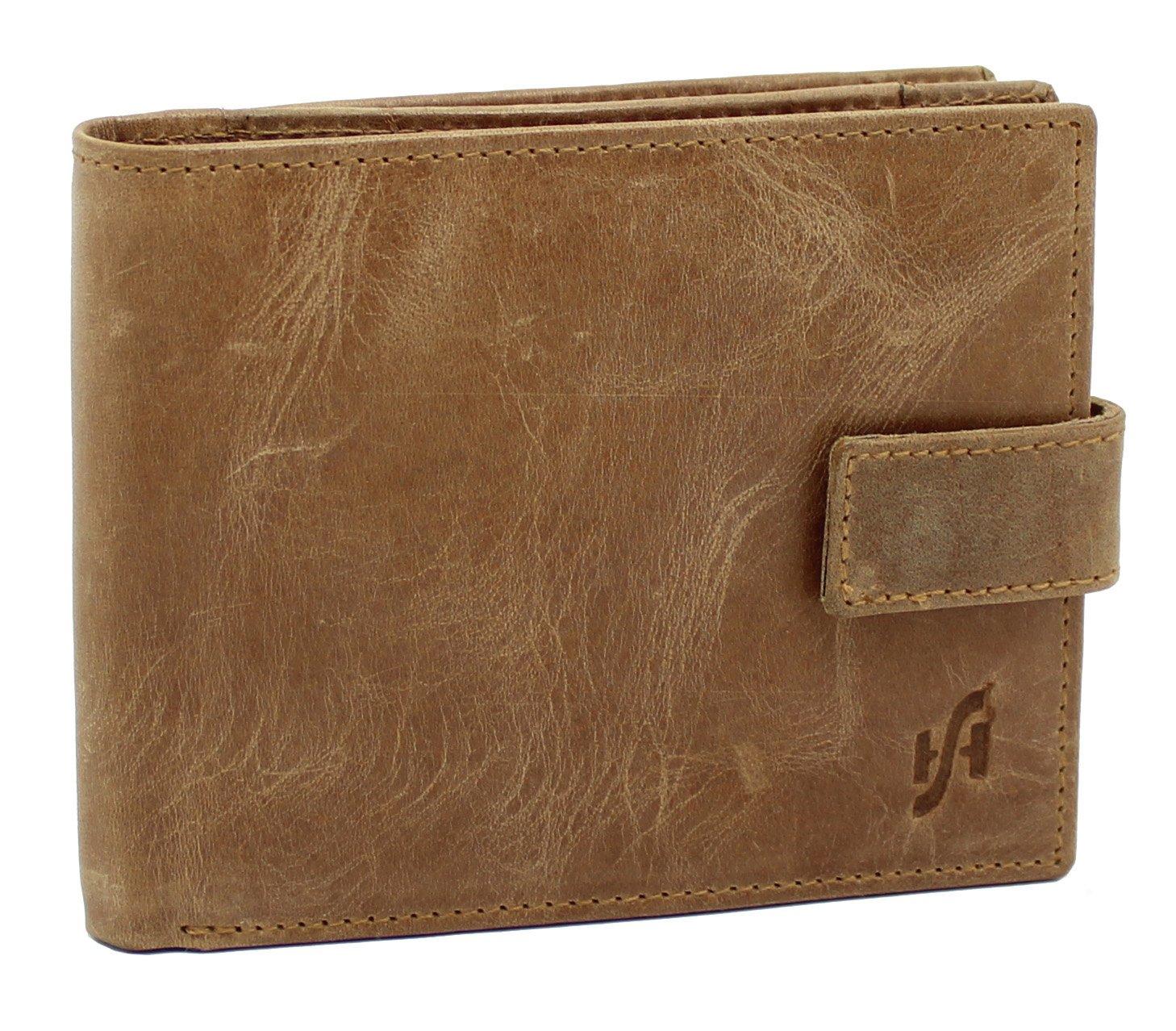 STARHIDE - Cartera para Hombre Unisex marrón Claro 11,5cm x 9,5 cm: Amazon.es: Equipaje