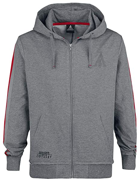 Assassins Creed Sweatshirt Odyssey - Taped Sleeve - Hoodie Grey-S