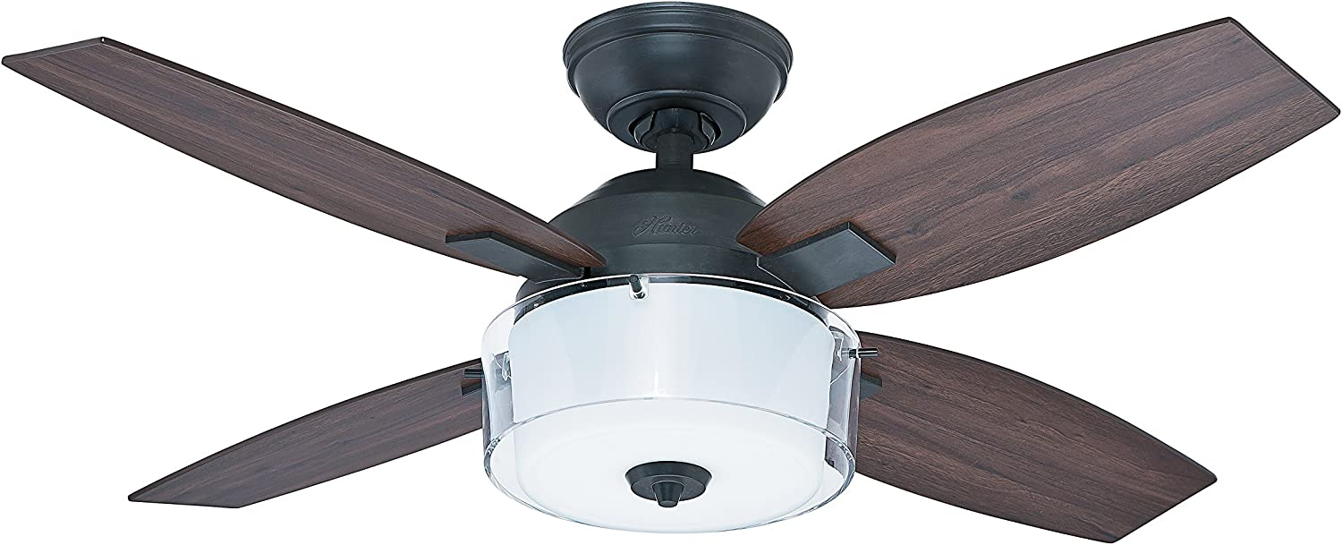 Hunter Fan 50618 Central Park - Ventilador de techo con luz estilo ...
