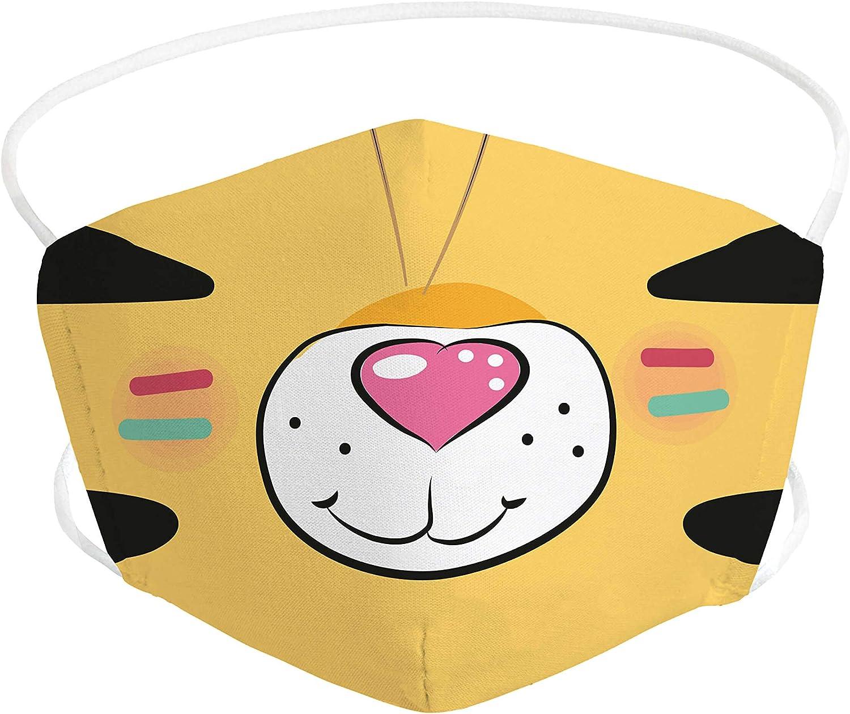 Pekebaby Mascarilla Infantil de tela lavable reutilizable 2 capas + bolsillo con 1 filtro incluido, diseño 013 INDIAN, doble ajuste elástico