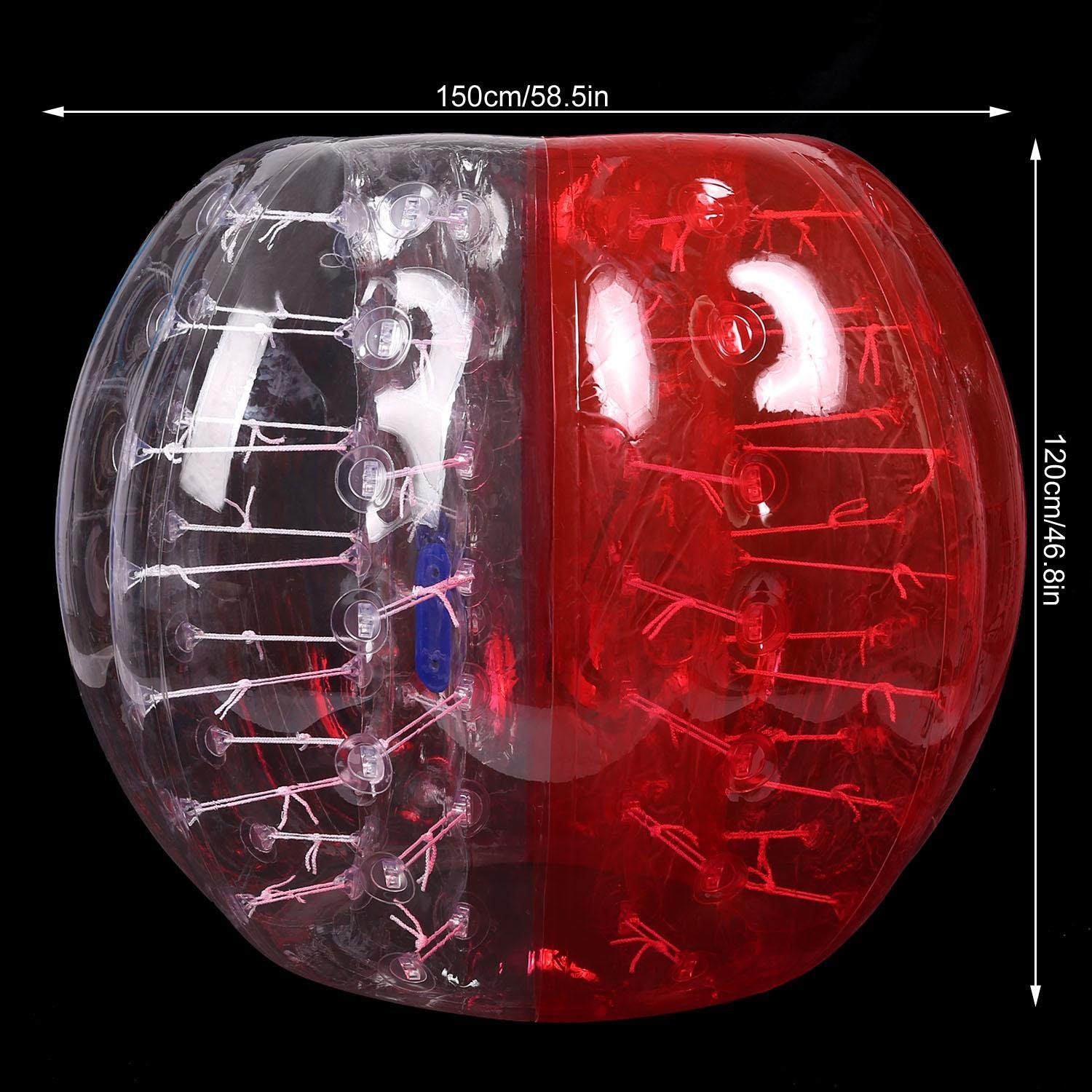 Mewalker Giant Inflatable Bumper Ball 0.8MM TPU Bubble Soccer Ball Zorb Ball Human Hamster Ball With 2 Handles 2 Adjustable Shoulder for Children Kids Adults Playground Outdoor (1.2M-1.5M,US STOCK) by Mewalker (Image #3)