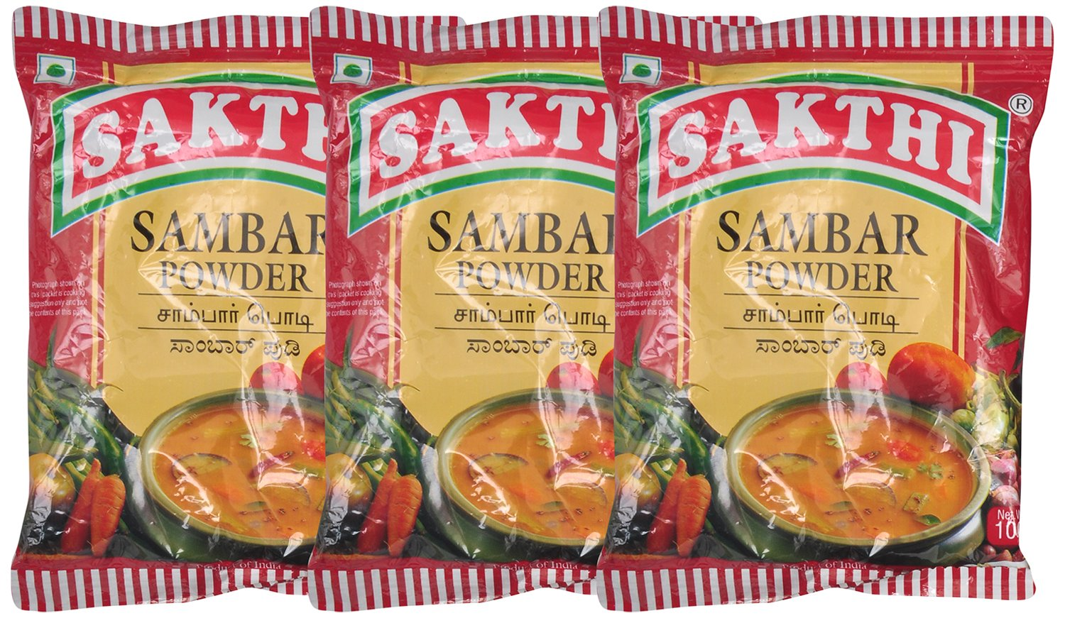 Sakthi Sambar Powder 100Gm - Pack Of 3