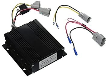 81E SKhc9uL._SX355_ amazon com one golf cart dc converter 36v 60v to 12v step down golf cart voltage reducer wiring diagram at gsmx.co