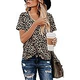 Yidarton Women's T Shirt Leopard Print Tops...