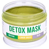 DETOX FACE MASK By Teami | Our 100% Best Green Tea Facial Care Mud Masks with Bentonite Clay for a Natural, Hydrating Cleanse of Dry Skin that Removes Blemishes | Antioxidant, Moisturizing, Anti-aging
