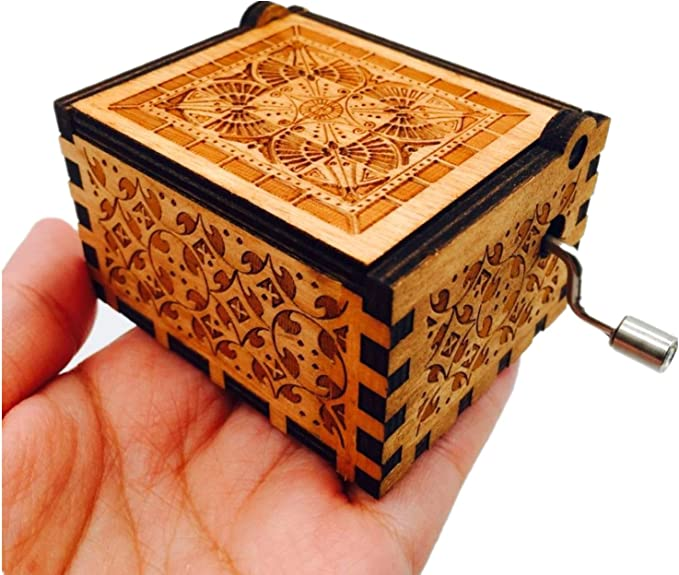 HLZK Piratas de la caja de música del Caribe, antiguo tallado de madera Davy Jones capitán Jack cajas musicales Regalo de cumpleaños: Amazon.es: Hogar