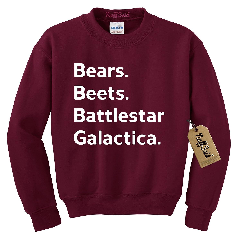 NuffSaid Beets Bears Battlestar Galactica Crewneck Sweatshirt Sweater Jumper - Unisex Crew