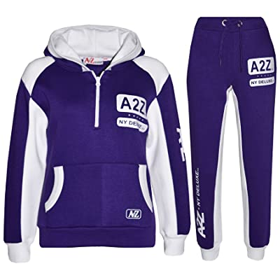 A2Z 4 Kids® Kids Jogging Suit Boys Girls Designer's Tracksuit Zipped Top & Bottom 5-13 Year