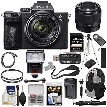 Amazon.com: Sony Alpha A7 III - Cámara digital 4K y lente FE ...