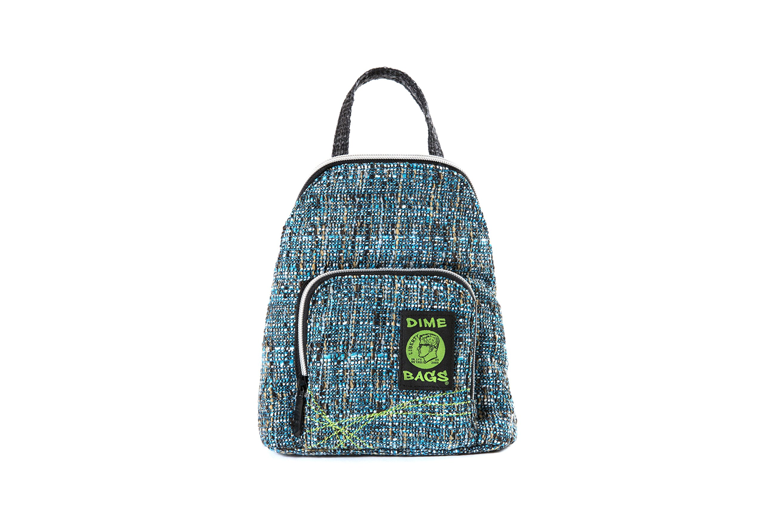 Club Kid Mini Backpack - Knapsack w/Smell Proof Pouch & Secret Pocket (Glass)