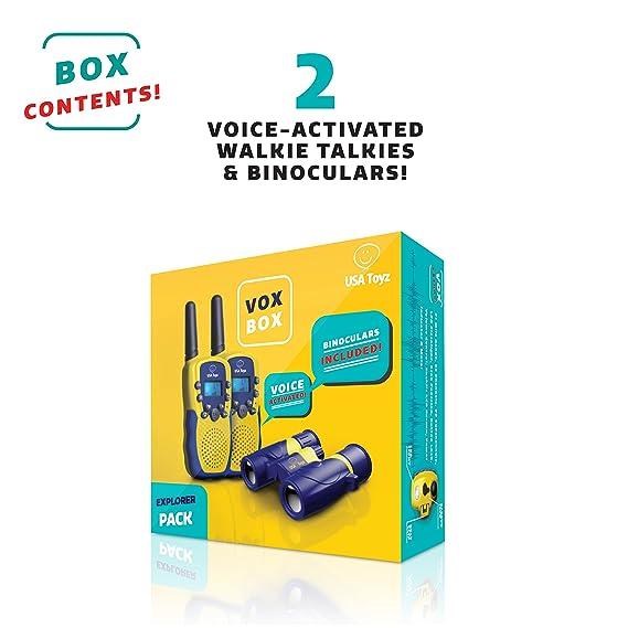 Amazon.com: USA Walkie-Talkies y binoculares para niños - Kit Walkie Talkie