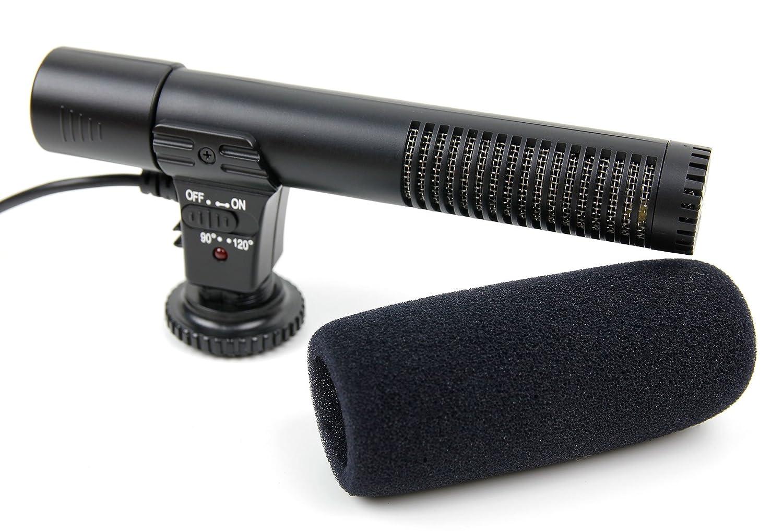 Connessione Jack 3.5 mm DURAGADGET Microfono Stereo per Fotocamere Canon EOS 760D Canon EOS 7D Mark II Canon EOS 77D Audio Alta qualit/à