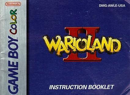 amazon com warioland ii gbc instruction booklet nintendo gameboy rh amazon com wario land super mario land 3 instruction manual wario land super mario land 3 instruction manual
