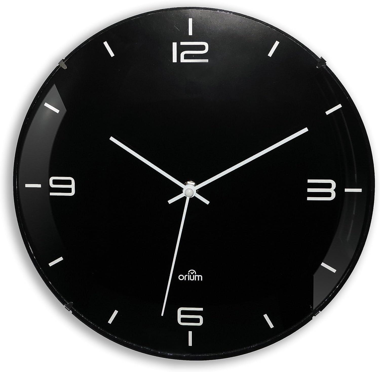Orium 11077 Horloge Plastique/Verre Noir 29,3 x 5,5 x 29,3 cm