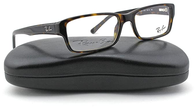 5ccf5910429 Amazon.com  Ray-Ban RX5169 Square Unisex Eyeglasses (Dark Havana ...