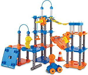 Learning Resources City Engineering and Design Building Set, Engineer STEM Toy, 100 Pieces, Ages 5+