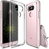 LG G5 Case, Ringke [FUSION] Crystal Clear PC Back TPU Bumper [Drop Protection / Shock Absorption Technology][Attached Dust Cap] For LG G5 2016 - Crystal View
