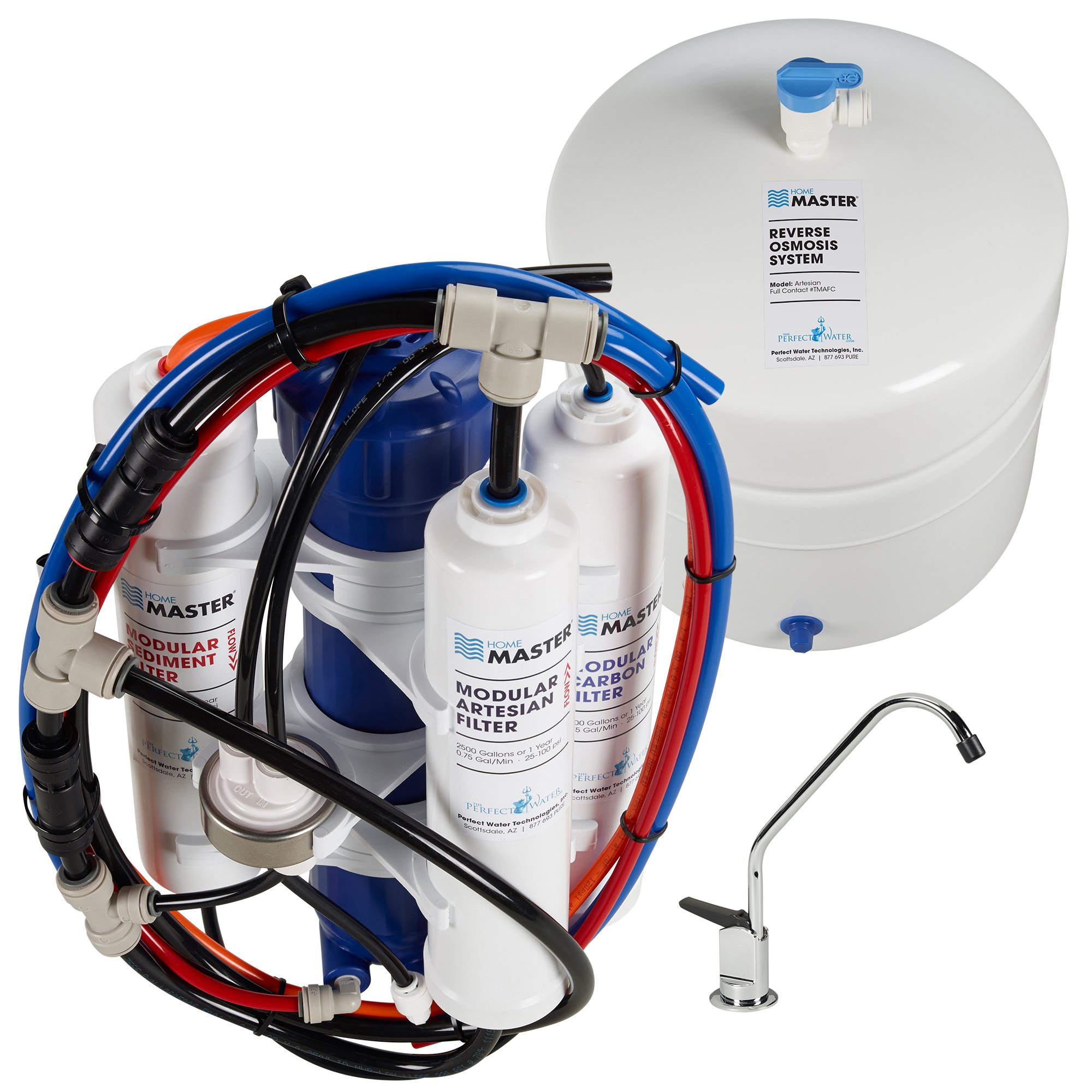 Home Master TMAFC Artesian Full Contact Undersink Reverse Osmosis Water Filter System by Home Master