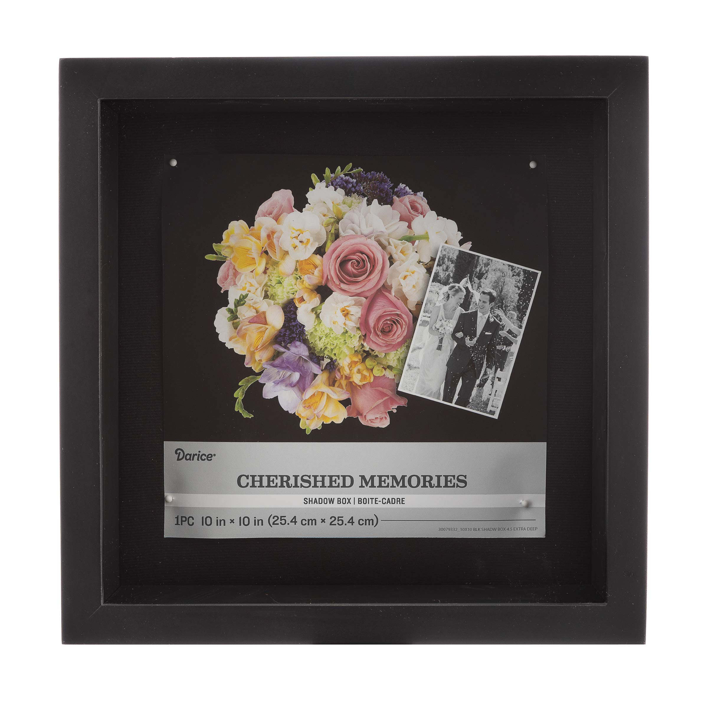 Darice Extra Deep Shadowbox: Black, 10 x 10 Inches by Darice