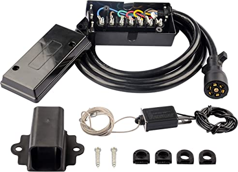 Amazon.com: RVGUARD 7 Way 8 Feet Trailer Cord with 7 Gang Junction Box  Kit,Include 12V Breakaway Switch and Plug Holder, Trailer Connector Cable Wiring  Harness with Waterproof Junction Box: AutomotiveAmazon.com