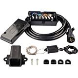 RVGUARD 7 Way 8 Feet Plug Trailer Cord with 7 Gang Junction Box, with 12V Breakaway Switch and Plug Holder, Trailer…