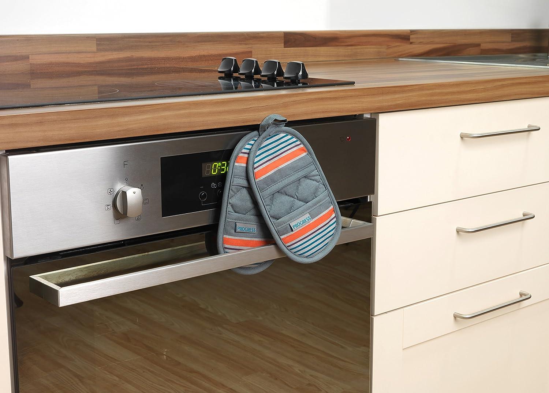 PROGRESS MFPRO10976NEW New England Performance Magnetic Microwave Mitts Mini Oven Gloves Grey//Orange
