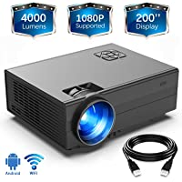 Gimisonic 4030 720p 4000-Lumens LED Portable Projector (Black)