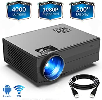 Gimisonic 4000-Lumens LED Portable Projector