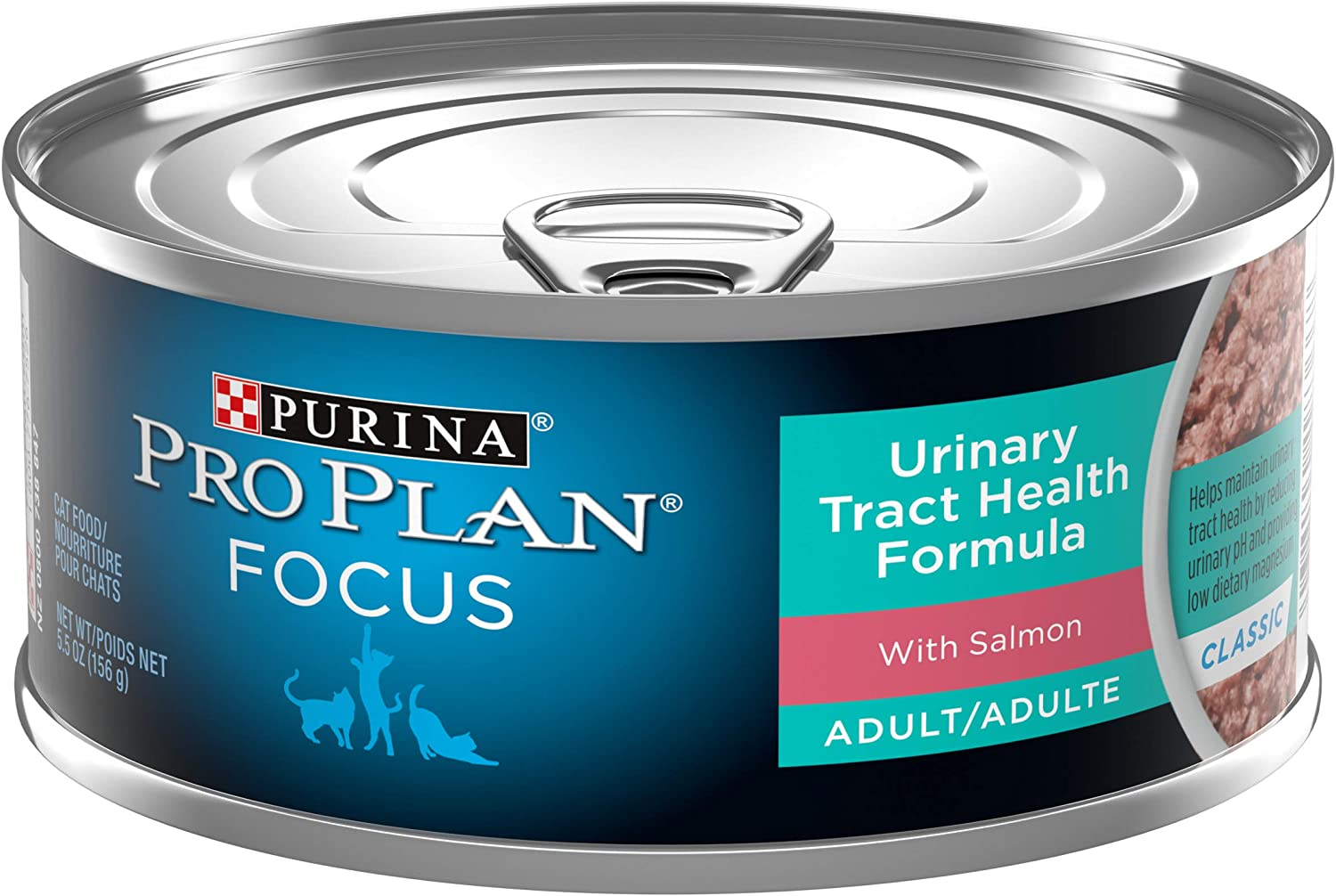 Purina Pro Plan Focus Adult Urinary Tract Health Formula with Salmon Wet Cat Food - (24) 5.5 oz. Cans