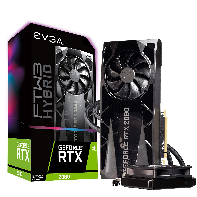 EVGA GeForce RTX 2080 FTW3 Ultra Hybrid Gaming, 8GB GDDR6, RGB LED & iCX2 Technology - 9 Thermal Sensors Graphics Card 08G-P4-2284-KR