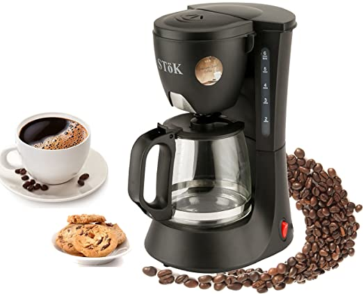 Stok ST-DCM01-1 : 600 Watt Drip Coffee Maker - 6 Cups(600Ml)