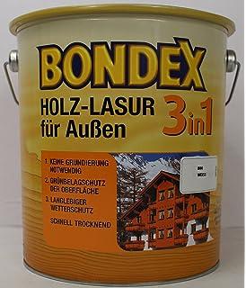 Extrem Bondex 3in1 Holzlasur für außen 0,75 Liter farblos: Amazon.de ZJ24