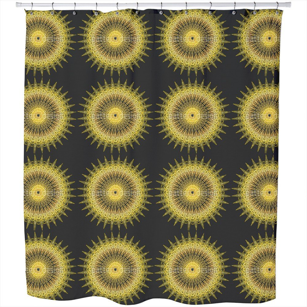 Uneekee Golden Chariot Shower Curtain: Large Waterproof Luxurious Bathroom Design Woven Fabric