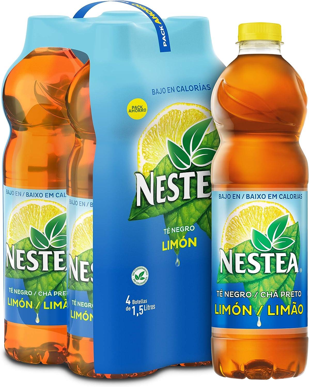 Nestea Té Negro Limón Botella - 1.5 l (Pack de 4): Amazon.es ...