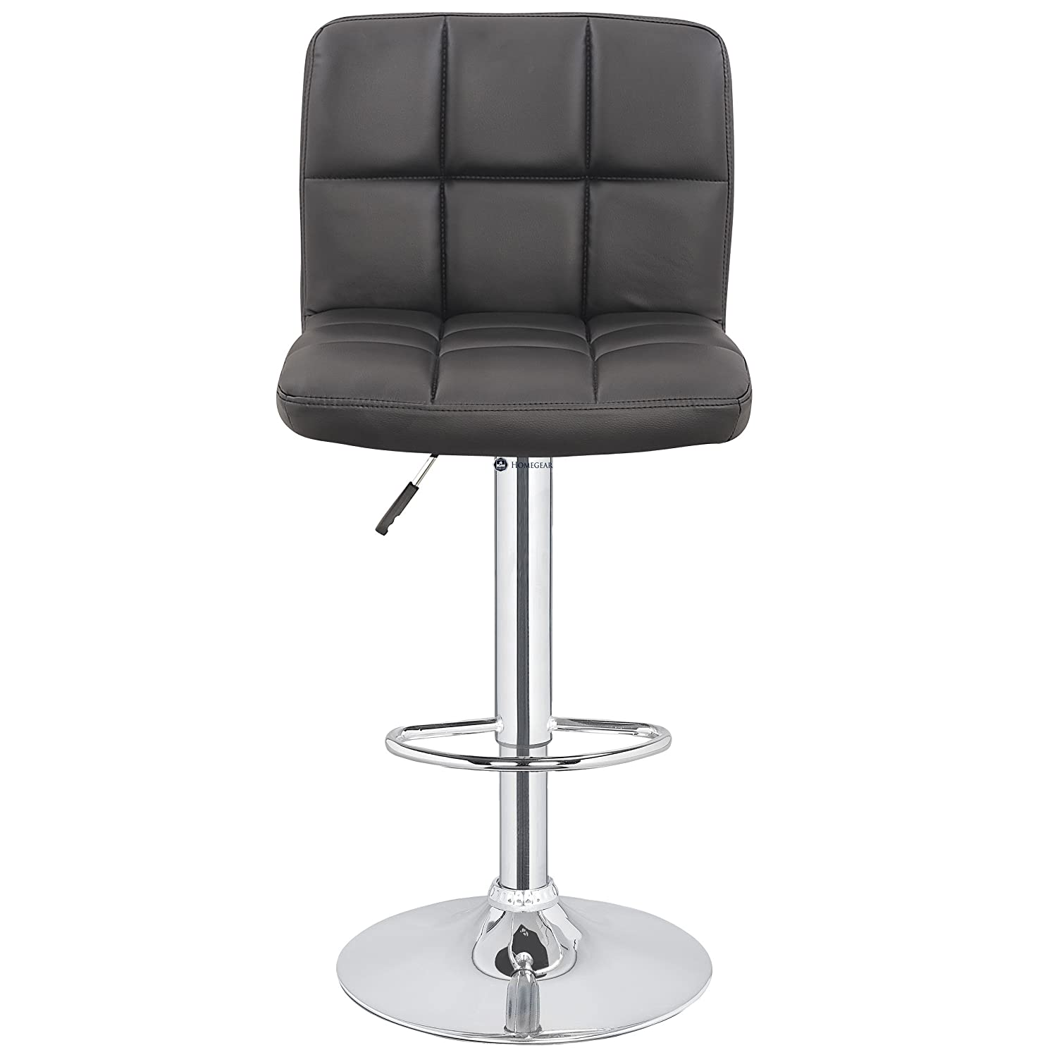 Homegear M2 Contemporary Adjustable Faux Leather Bar Stool x2