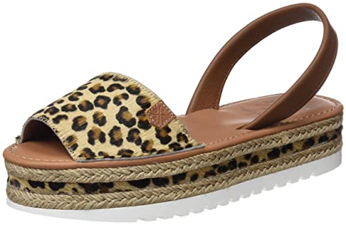 MENORQUINAS POPA Cannes, Sandalias con Plataforma para Mujer, Marrón (Leopardo), 37 EU: Amazon.es: Zapatos y complementos