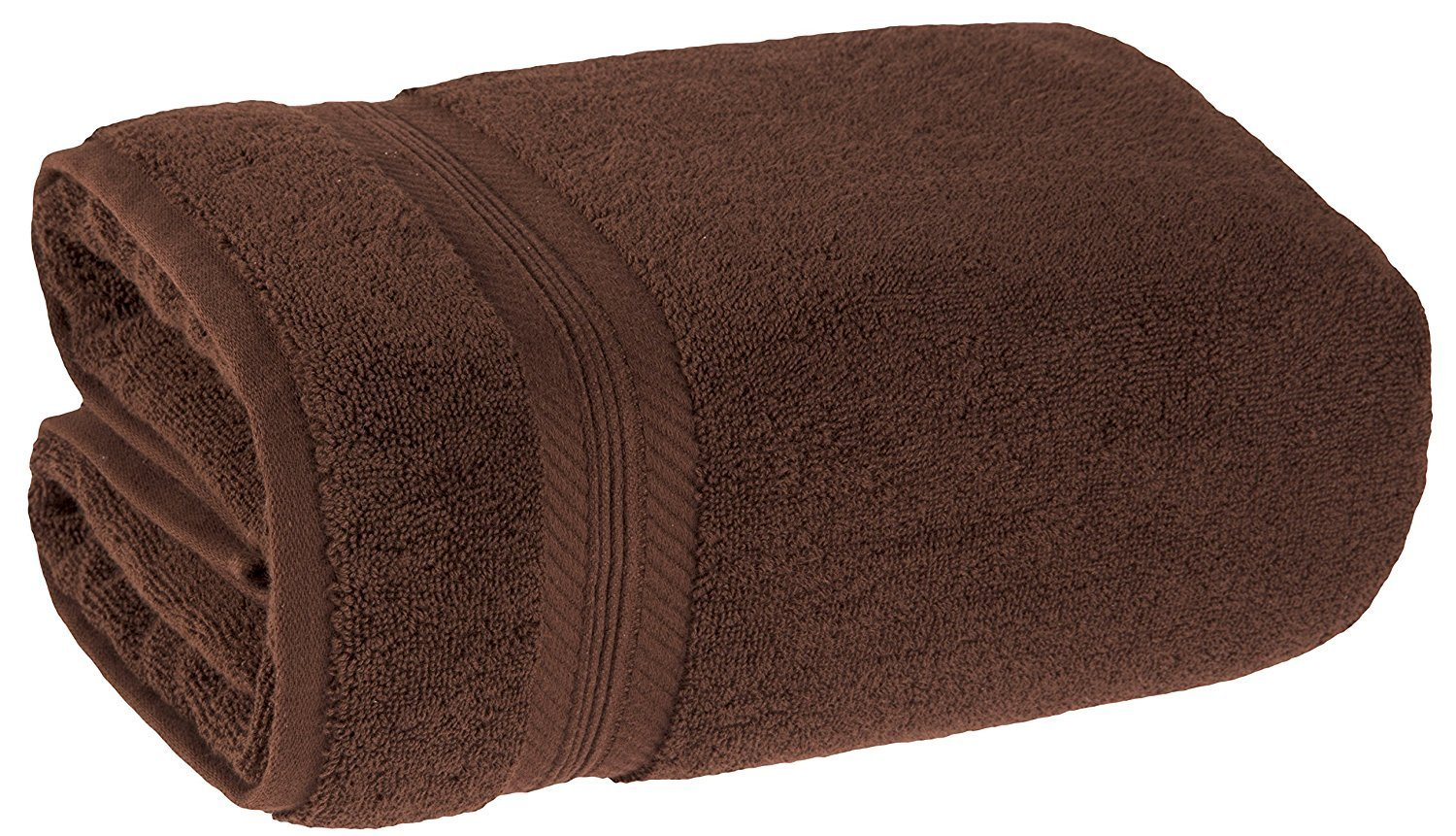 Machine Washable Bath Sheet Large, 100% Ring Spun Genuine Cotton 650 GSM, Maximum Absorbency & Softness, Hotel & Spa Quality, Perfect for Decorative Bathrooms, 35x70 Inches by ProTech, Dark Brown