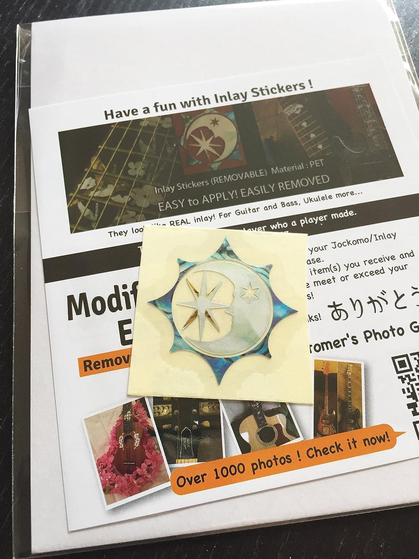 Inlay Stickers pour ukul/él/és Moon and Star Symbol Sun