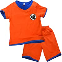 Niños Disfraz Camiseta T-Shirt Shorts para Dragón Son Goku Traje de Entrenamiento Ropa Sudadera (120 (5-6 años))