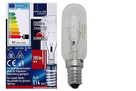 Muller Licht Rohrenlampe Dunstabzug E14 230 Volt 40 Watt Klar Grosse