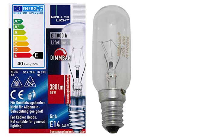 Lampada Tubolare E14 : Müller lampadina tubolare con attacco e volt watt