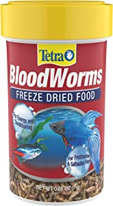 Tetra BloodWorms, Freeze-Dried Food for Freshwater and Saltwater Fish