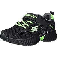 Skechers Kids' Gore & Strap Sneaker W/Emboss