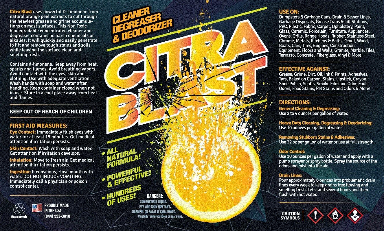 All Natural Orange Citrus D-Limonene Cleaner Degreaser & Deodorizer (5, Gallon) by FDC (Image #2)