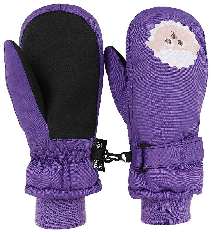 Livingston 子供用ミトン シンサレート素材の裏打ち 防水スキー手袋 動物デザイン B0776PR5YV Medium|羊 羊 Medium