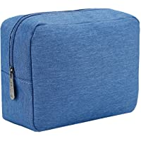 E-Tree 9.8 inch Canvas Zippered Cosmetic Travel Bag, Makeup Carrying Case, Portable Daily Storage, Compliant Bag…
